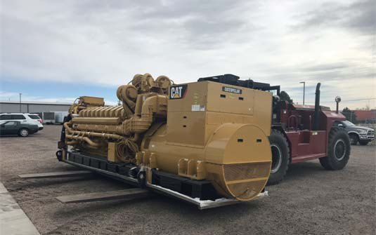 4000 kW Caterpillar Generator Prepping for Shipment