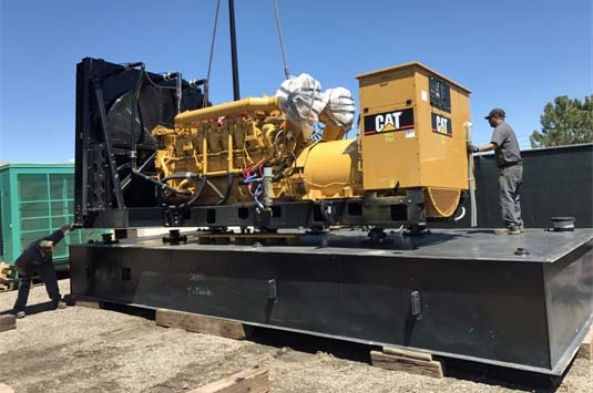 Large Generator Packages Require Disassembly for Shipping