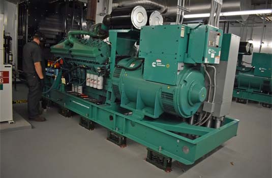 Indoor Emergency Generators Configured for Parallel Operation
