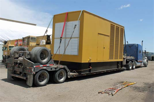 Caterpillar Generator Enclosure Shipping to Customer