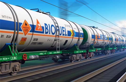 Biofuel Transported by Rail Cars