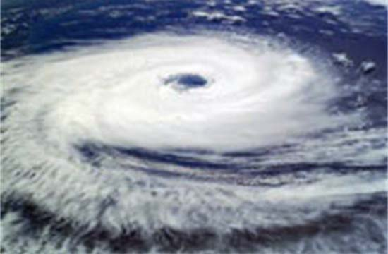 Photo of Hurricane Taken from Space