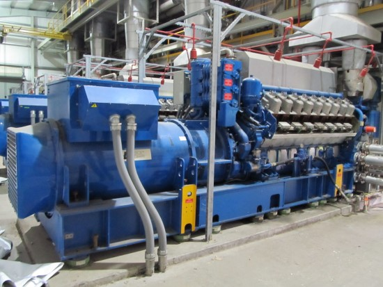 2925 kW Wartsila Generators that power the plant