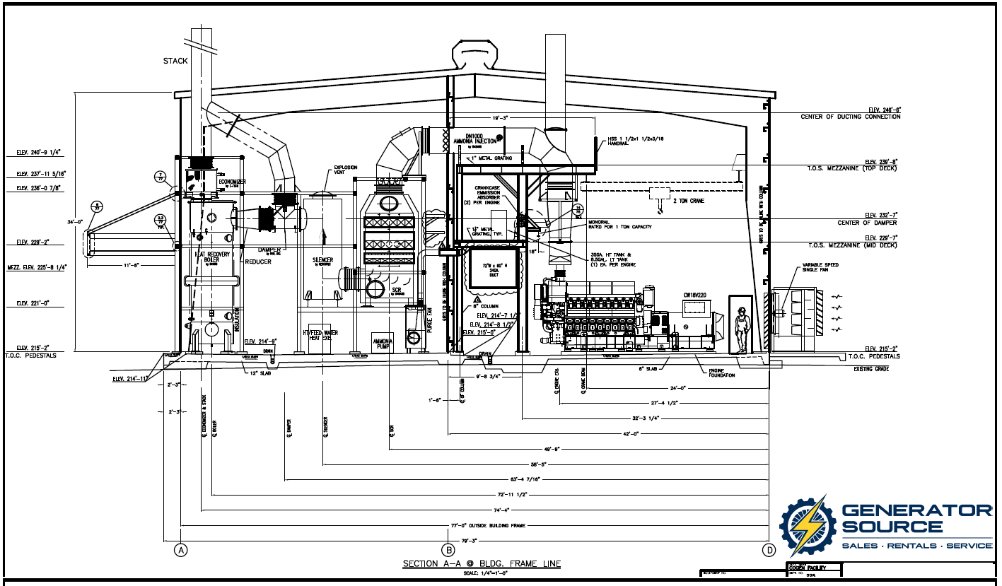 Natural Gas Power Plant schematic 1