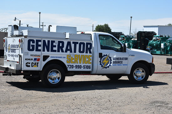 Row of Generator Service Trucks