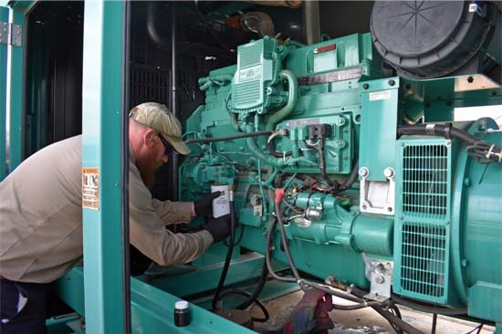 Collecting Generator Engine Oil Sample