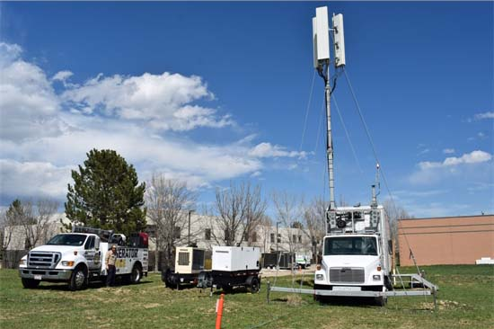 Portable Cell Tower Installation