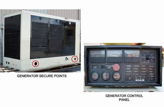 Generator Must be Protected and Secured for Transport