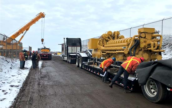 Caterpillar 4000 kW Generator Unloading at Canadian Steel Mill