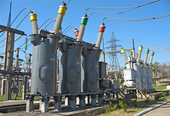 Substation Transformer Bank