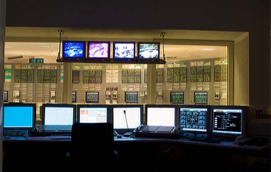 Nuclear Power Plant Control Room with Automation
