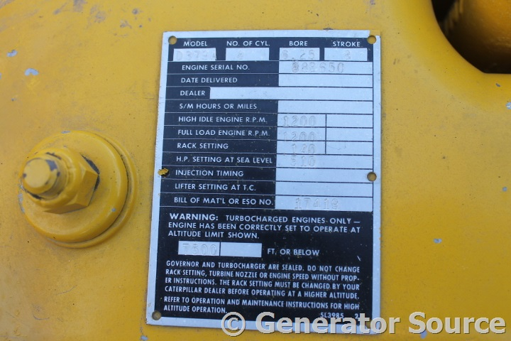 300 kW Caterpillar Diesel D379A - Used Generator for Sale