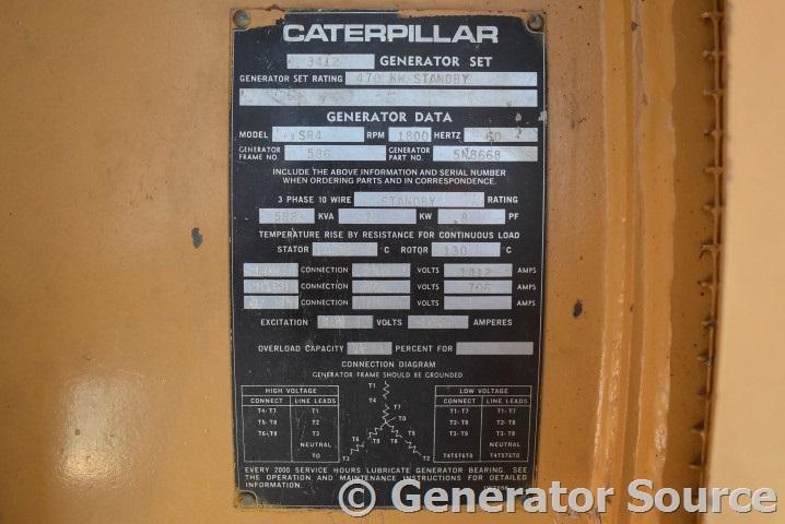 Diesel Mechanic Tools >> 470 kW Caterpillar Diesel 3412- AR# 1W9602 - Used ...