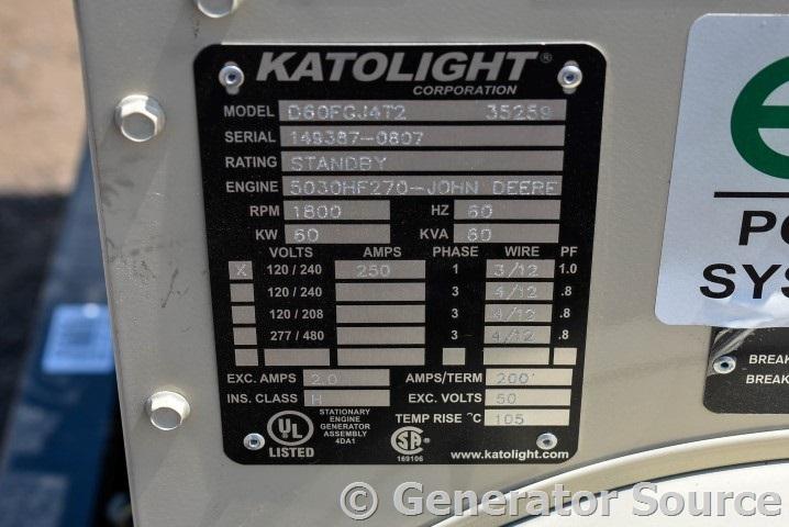 60 Kw Katolight Diesel 5030hf2708 Used Generator For Sale Unit87811rhdieselserviceandsupply: Katolight Kec Wiring Diagram At Gmaili.net